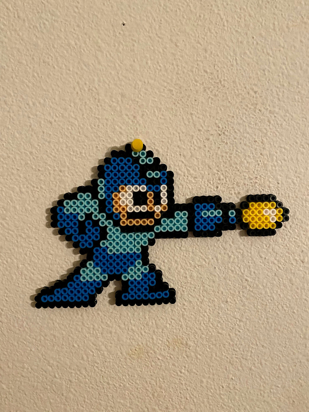Mega Man & Rush Inspired Pixel Art- Wall Hangings, Kids Bedroom, Game Bedroom and More
