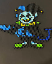 Load image into Gallery viewer, Jevil Deltarune Inspired Beaded Sprite- Wall Hangings, Kids Bedroom, Game Bedroom and More