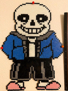 Large Sans Undertale Inspired Beaded Sprite- Wall Hangings