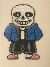 Load image into Gallery viewer, Large Sans Undertale Inspired Beaded Sprite- Wall Hangings