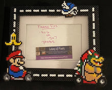 Load image into Gallery viewer, Mario Kart Perler Glass Picture Frame - Fits 4x6 or 5x7 Photos- Choose Horizontal or Vertical, Inspired, Geeky, Video Game Art