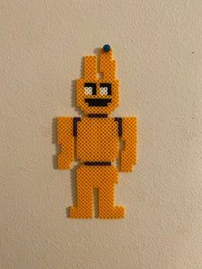 Purple Guy/ William Afton, Spring Bonnie, FNAF Inspired Beaded Sprites- Perler Wall Art, Game Room Art, Video Game, Pixel Horror