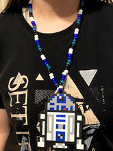 Load image into Gallery viewer, R2D2 Kandi Perler Necklace, Perler Jewelry, Artkal, Star Wars, Inspired, Disney Kandi