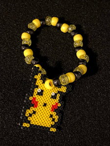 4 Pokemon Kandi Bracelets, Inspired, Perler Jewelry, Artkal, Kandi, Rave Jewelry, Festival Jewelry, Pokemon Party, Kandi Beads, Perler Art