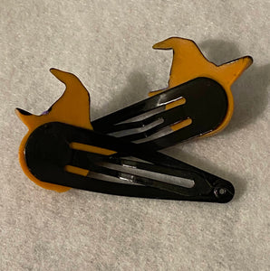 Halloween Charm Snap Hair Clips- Ghosts and Pumpkins