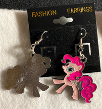Load image into Gallery viewer, Pony Enamel Charm Dangle Earrings