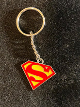 Load image into Gallery viewer, Superhero Enamel Charm Keychains