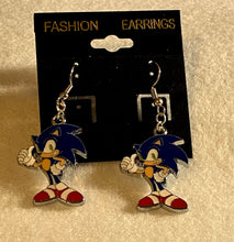 Load image into Gallery viewer, Famous Sonic the Hedgehog Enamel Charm Dangle Earrings