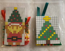 Load image into Gallery viewer, DIY Perler Bead Christmas Ornament Craft Kits, Kids Craft Santa, Link, Christmas Tree