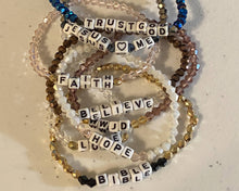 Load image into Gallery viewer, Beaded Christian Faith Bracelets