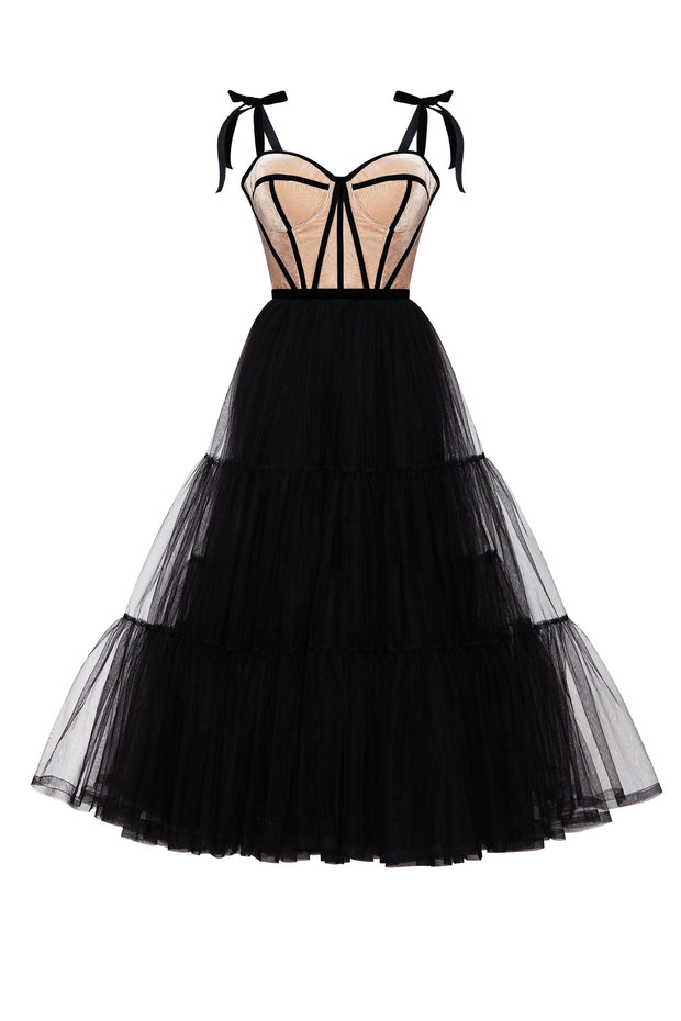 Puffy Tulle Dress in Black