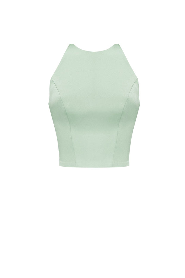Mock Neck Sleeveless Crop Top