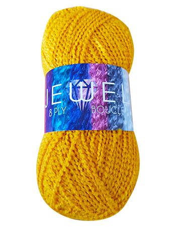 Ball of Jewel 10 ply yarn with label on.