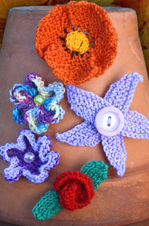Knitted Flowers | Design P105