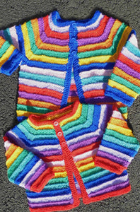 Baby's Striped Cardigan | Design P107