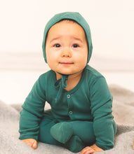Load image into Gallery viewer, Martha & Marlo Baby Bonnet Hat Organic Cotton Green