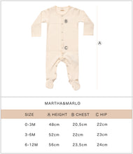 Load image into Gallery viewer, Martha & Marlo Baby One Piece Bodysuit Organic Cotton Veggie Print Blue