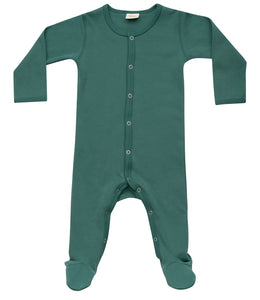 Martha & Marlo Baby One Piece Bodysuit Organic Cotton Green