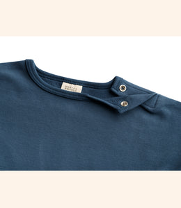 Martha & Marlo Baby Long Sleeve T-Shirt Organic Cotton Blue