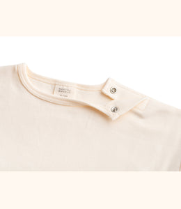 Martha & Marlo Kids Long Sleeve T-Shirt Organic Cotton Cream