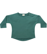 Load image into Gallery viewer, Martha & Marlo Kids Long Sleeve T-Shirt Organic Cotton Green