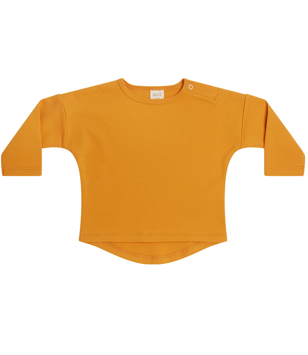 Martha & Marlo Kids Long Sleeve T-Shirt Organic Cotton Mustard