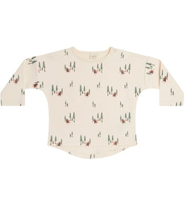 Martha & Marlo Baby Long Sleeve T-Shirt Organic Cotton Cream Bear Print