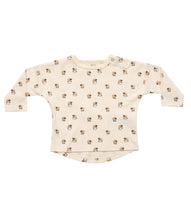 Load image into Gallery viewer, Martha & Marlo Baby Long Sleeve T-Shirt Organic Cotton Sheep Print Cream