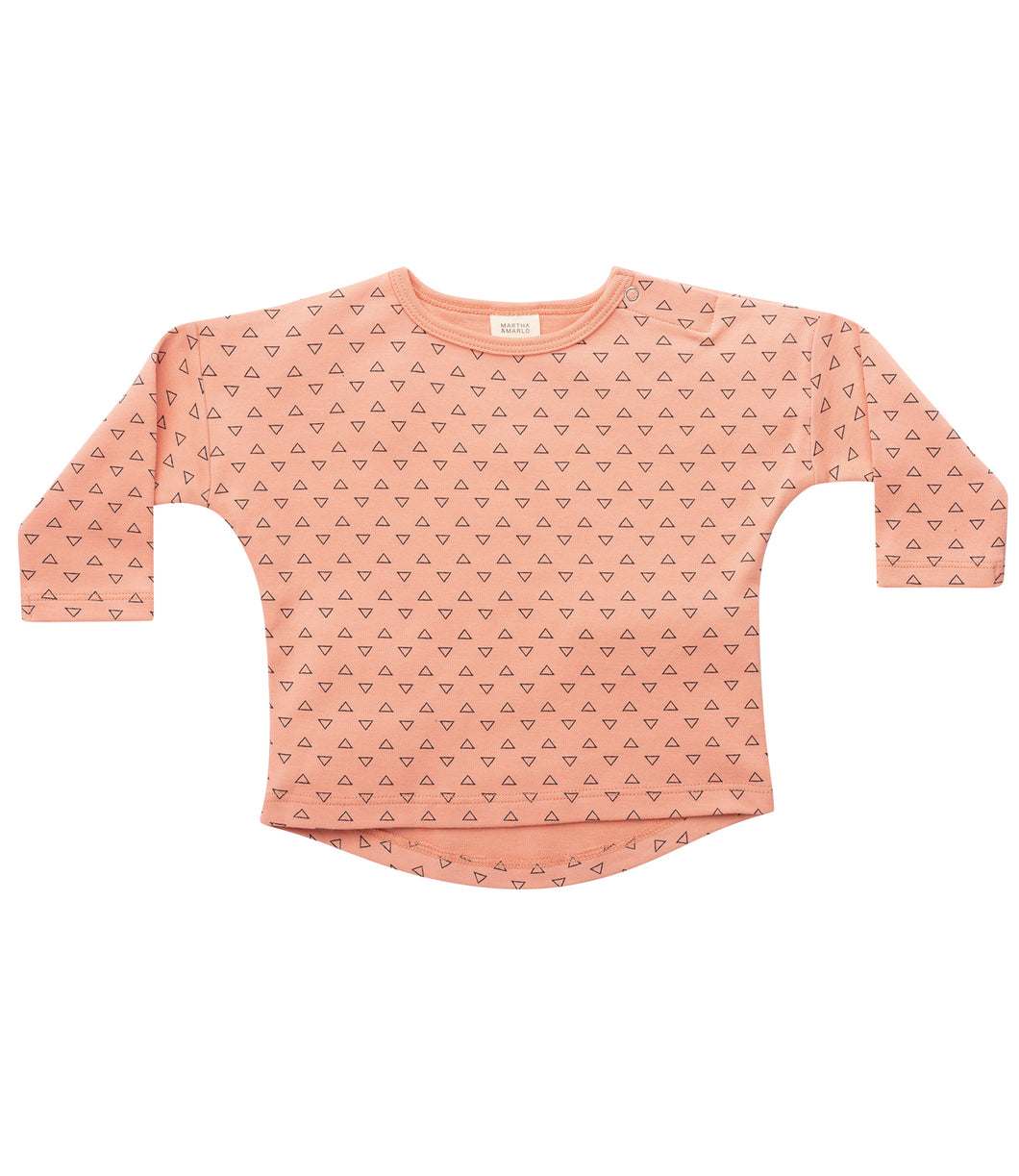 Martha & Marlo Baby Long Sleeve T-Shirt Organic Cotton Outline Print Pink