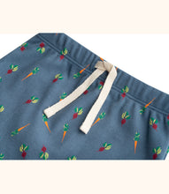 Load image into Gallery viewer, Martha & Marlo Kids Drawstring Pant Organic Cotton Veggie Print Blue