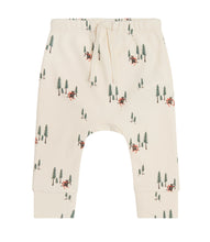 Load image into Gallery viewer, Martha & Marlo Baby Drawstring Pant Organic Cotton Cream Bear Print