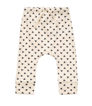 Load image into Gallery viewer, Martha & Marlo Baby Drawstring Pant Organic Cotton Sketch Print Cream