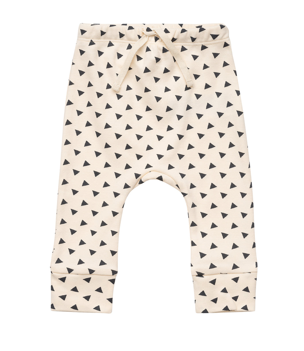 Martha & Marlo Baby Drawstring Pant Organic Cotton Sketch Print Cream