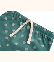 Load image into Gallery viewer, Martha & Marlo Kids Drawstring Pant Organic Cotton Spot Print Green