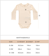 Load image into Gallery viewer, Martha & Marlo Baby Long Sleeve Bodysuit Green