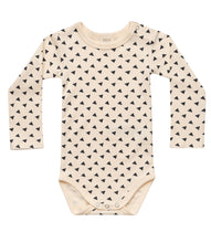 Load image into Gallery viewer, Martha & Marlo Baby Long Sleeve Bodysuit Sketch Print Cream