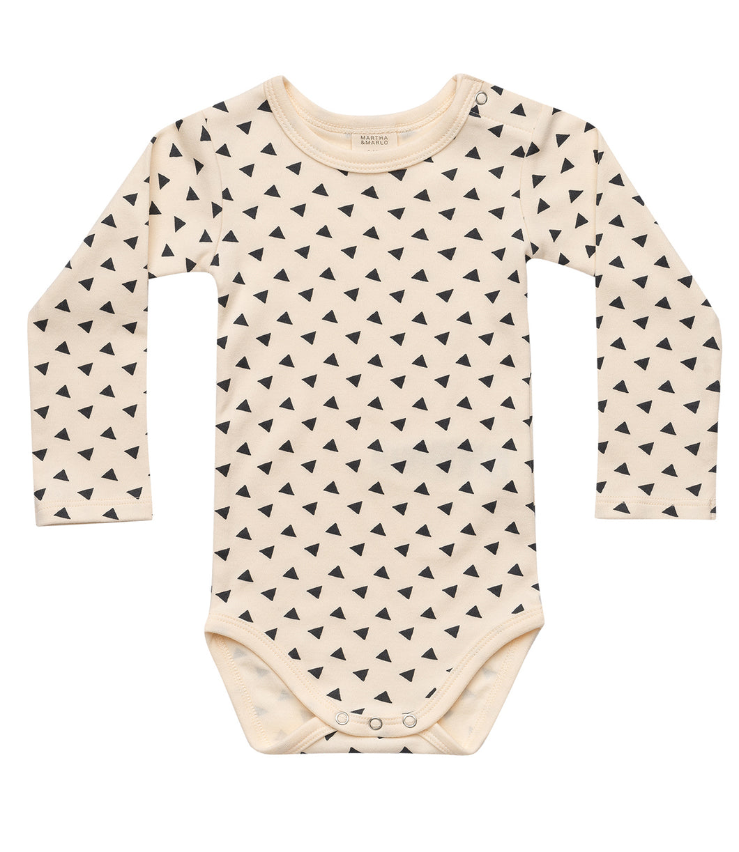 Martha & Marlo Baby Long Sleeve Bodysuit Sketch Print Cream