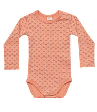 Load image into Gallery viewer, Martha & Marlo Baby Long Sleeve Bodysuit Outline Print Pink