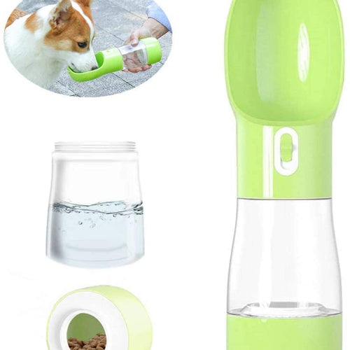 Dog Travel Water Bottle-Multifunctional Outdoor Water&Food Bowl for Dogs