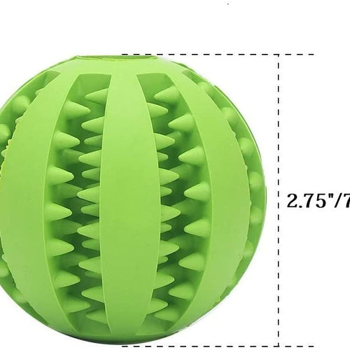 Dog Toy Ball-IQ Treat Balls-Fun Interactive Food Dispensing Dog Toys-Rubber Tooth Cleaning Toys for Small Medium Large Dogs Teeth Cleaning and Chewing