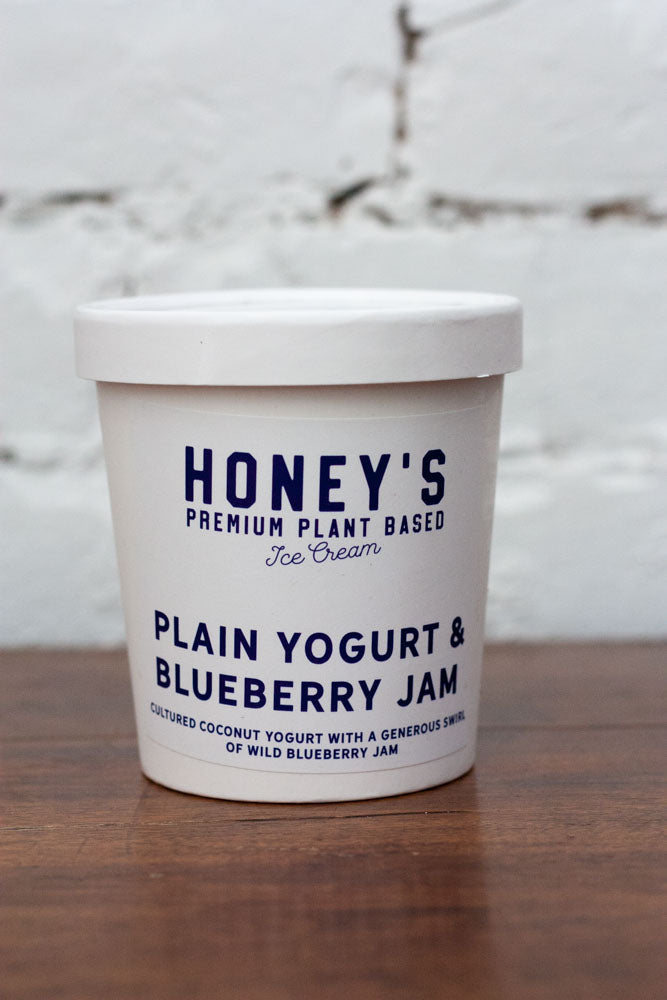 Plain Yogurt & Blueberry Jam