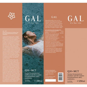 GAL Q10 + MCT -  50 x 100 mg Q10-koenzim, 250 ml