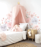 Bows and Roses Fabric Wall Sticker - Standard Pack -