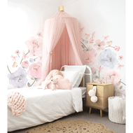 Bows and Roses  Fabric Wall Sticker - Large Pack -  Out Of Stock