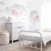Load image into Gallery viewer, Balloon Dreams Fabric Wall Sticker -