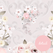 Load image into Gallery viewer, Swan Garden Floral  Fabric Wall Sticker Mural - In stock