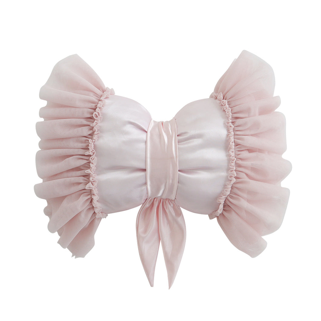 Dreamy Bow Cushion- Pale Rose - In stock