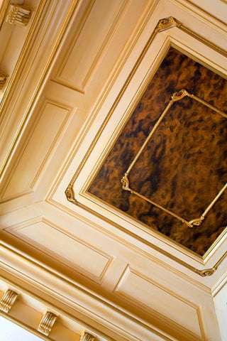 faux tortoise shell ceiling finish