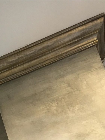 silver gold crown molding