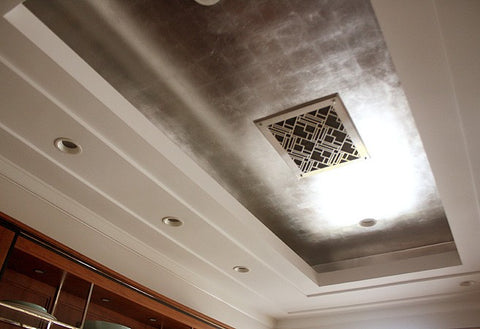 aluminum leaf ceiling finish